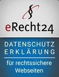 erecht24 Siegel Datenschutzerklärung